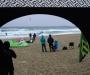 Ion teltet beskyttet oss mot regnet. Vi planlegger peis og sofa for neste år.